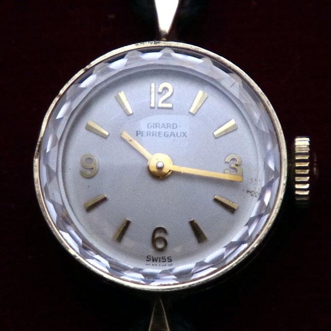 アンティークジラール・ペルゴ(GIRARD-PERREGAUX)腕時計 レディース 14KYG 金無垢 カットガラス