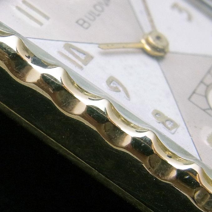 アンティークブローバ(BULOVA)10K 金張 腕時計 メンズ スモールセコンド