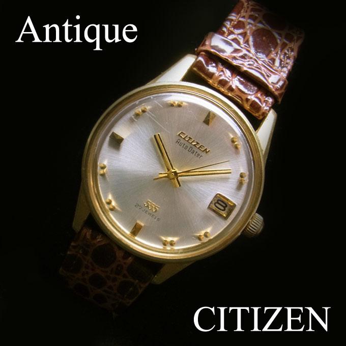 アンティークシチズン(CITIZEN)AUTO DATER 腕時計 メンズ デイト付